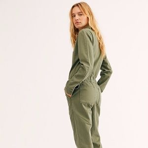Free People X Lee Union Utility Coverall Jumpsuit